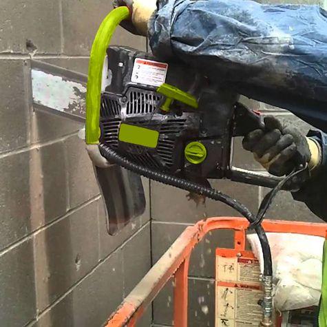Profondeur de coupe de 40-42cm, idéale pour couper des murs béton !